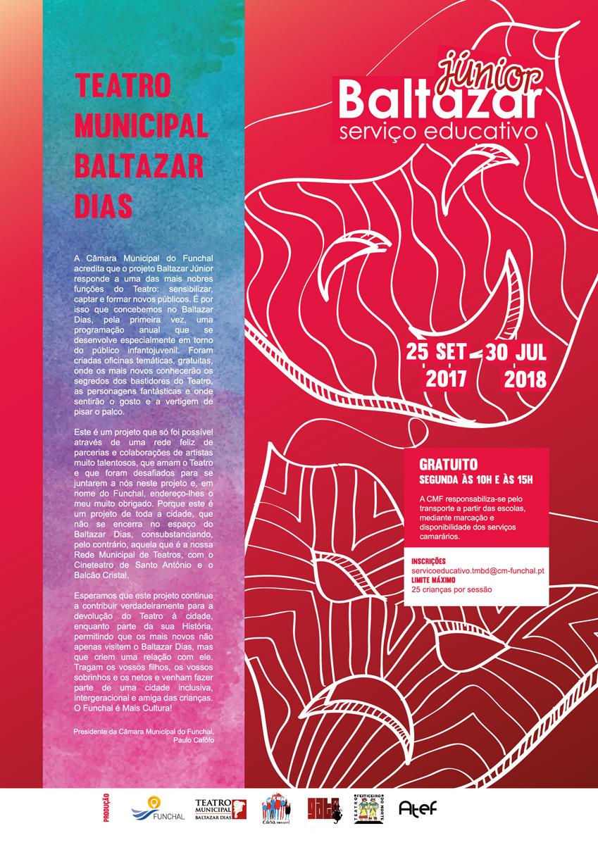 cartaz Serviço Educativo - Teatro Municipal Baltazar Dias