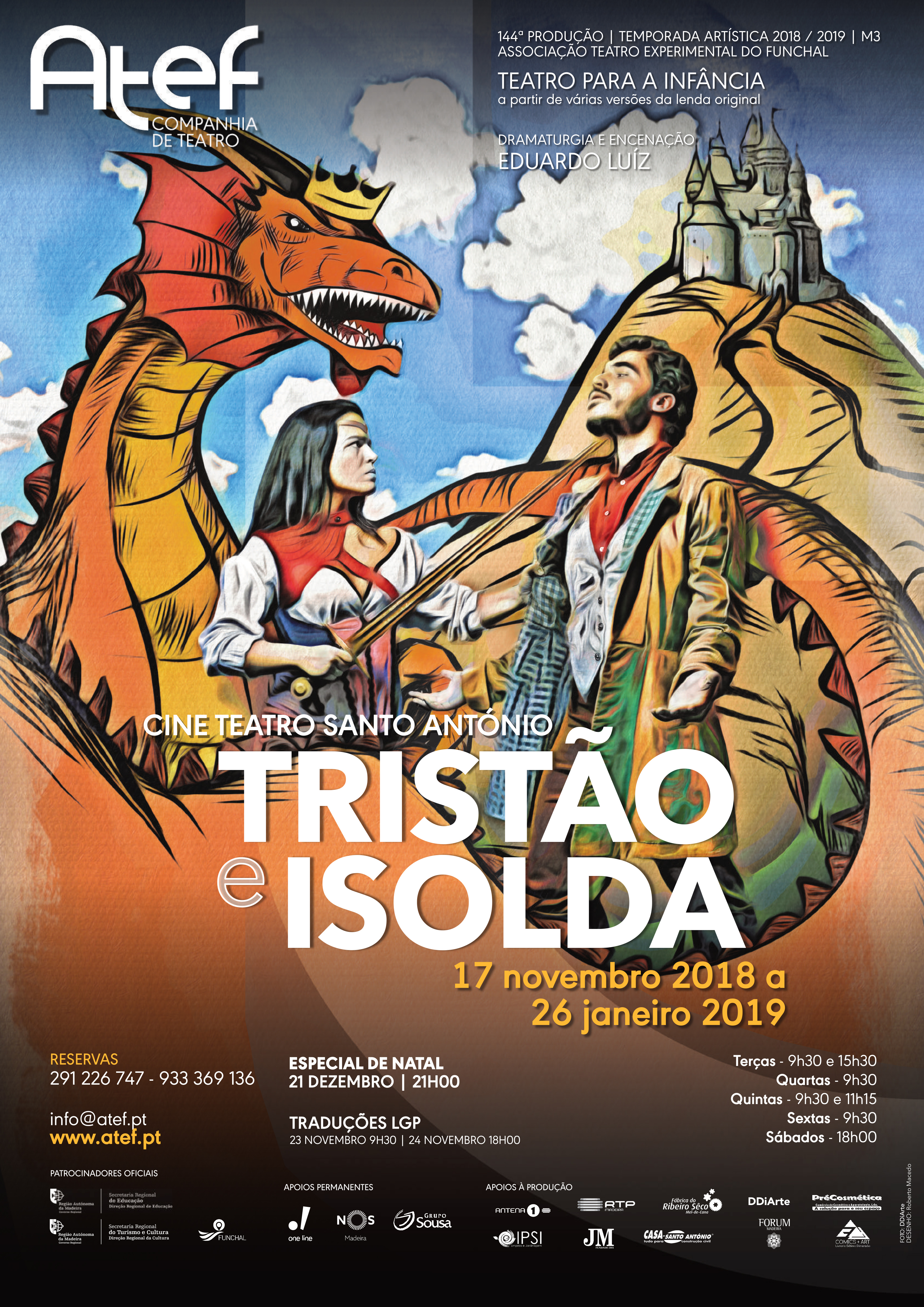 Cartaz Triatão e Isolda