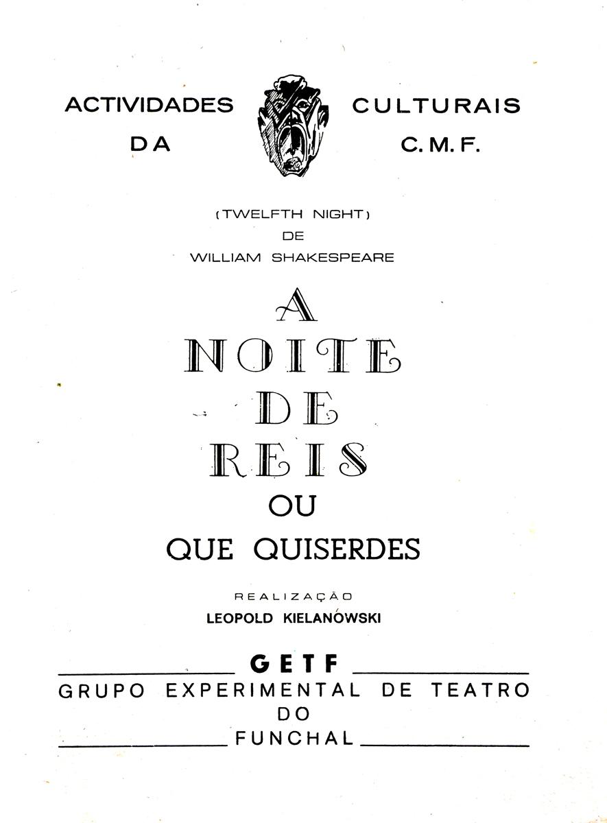 Produção 3 do Grupo Experimental de Teatro do Funchal