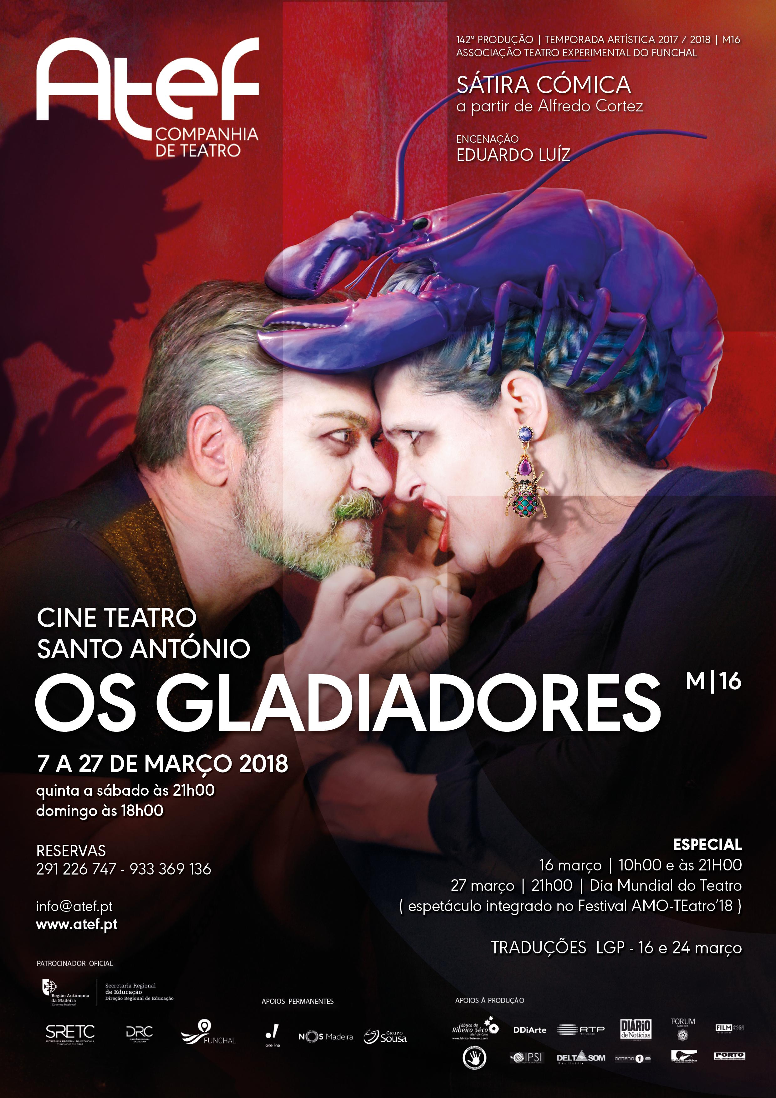 Os gladiadores 7 de março de 2018 / 21h00